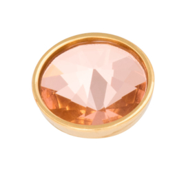 Top Part Pyramid Crystal Champagne Goud