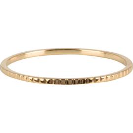 Charmin*s Ring Small Basics Bricks Gold Steel R740