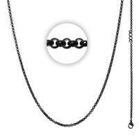 Collier 3 mm With Logo Zwart