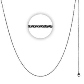 Collier 1 mm With Logo Zwart