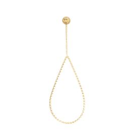 iXXXi Oorbellen Oval Chain Twist Goud