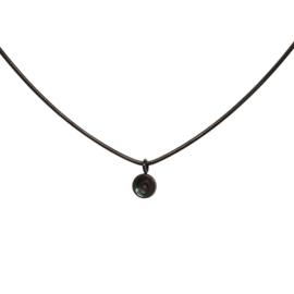 Necklace Snake Top Part Base 40 cm Zwart
