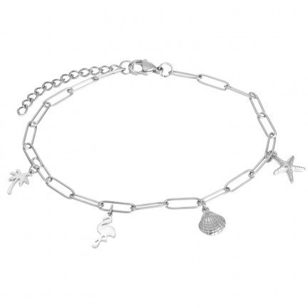 Ankle With Charms Zilver