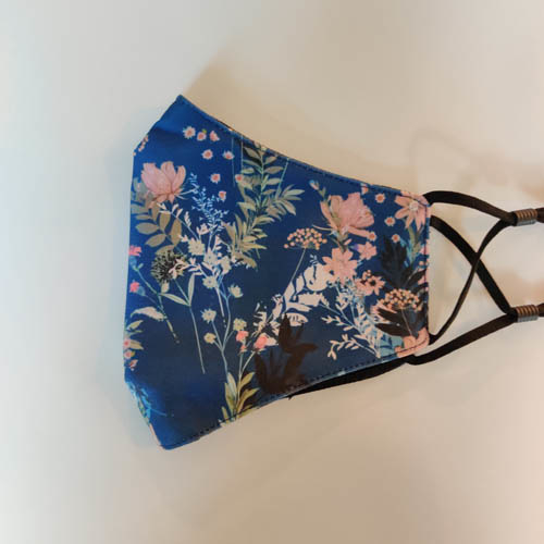Mondkapje Bloemen Blauw