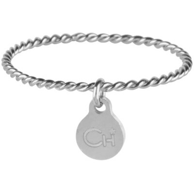 Charmin*s Ring Dangling Coin Shiny Steel R568