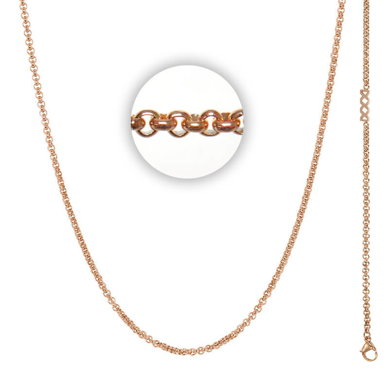 Collier 3 mm With Logo Rosé