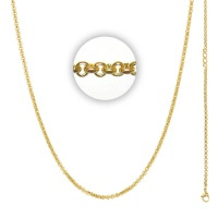 Collier 3 mm With Logo Goud