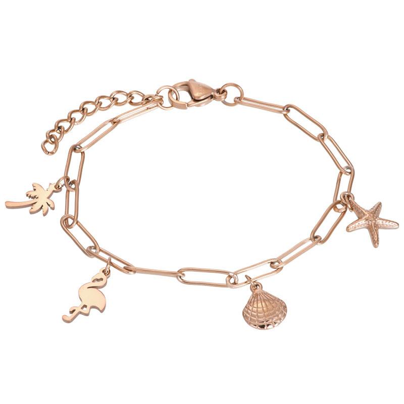 iXXXi Armband With Charms Rosé
