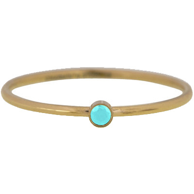 Charmin*s Ring Shine Bright Turquoise Gold Steel KR86
