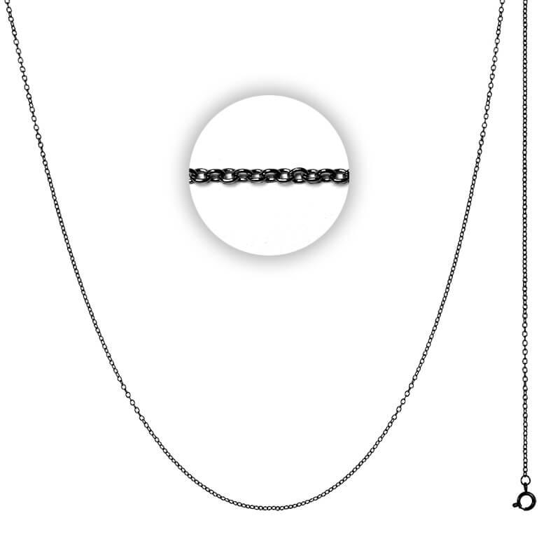 Collier 1 mm Zwart