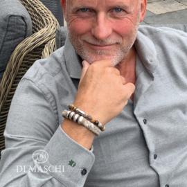 Grijze armband set