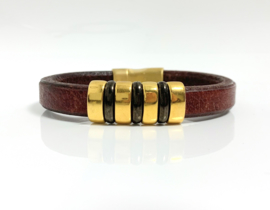 Lusso brown & gold armband