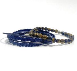 Blue & Brown Tiger Eye set