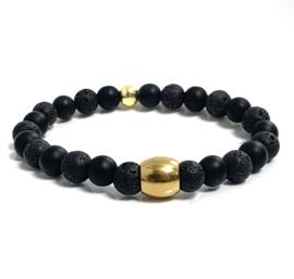Oro Lavasteen & zwarte onyx gold (3 varianten)