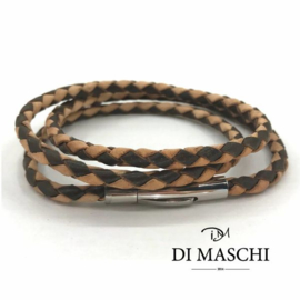 Duotone 4mm wikkel armband