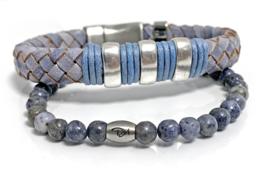 Blue jeans armband set