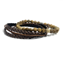 Brown & Brown Tiger Eye set