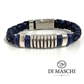 Lusso blue leren armband B
