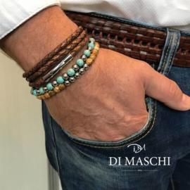 Donkerblauwe 4mm wikkel armband