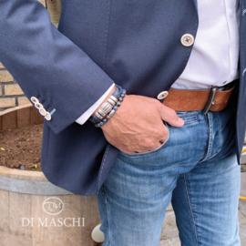 Blauwe armband set