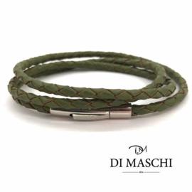 Groene 4mm wikkel armband