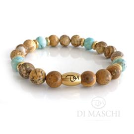 Oro zandsteen, turquoise & gold (3 varianten)