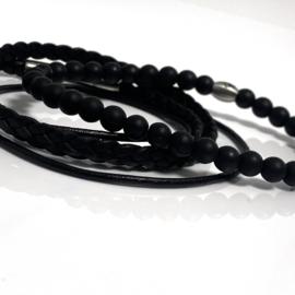 Black & Black Onyx set