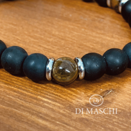 Argento Onyx  Mat & Tiger Eye Brown
