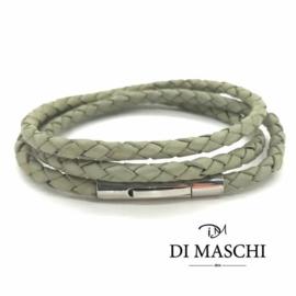 Licht groene 4mm wikkel armband