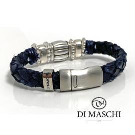 Lusso Blue leren armband