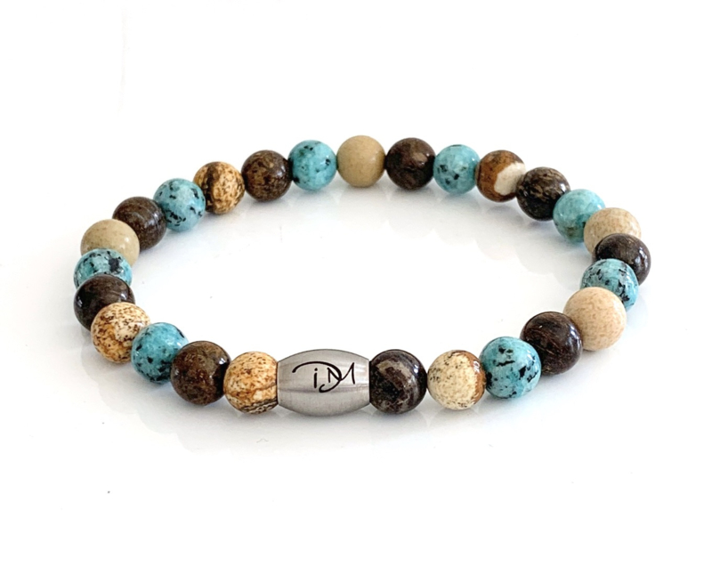 Turquoise,  Sand &  Dark Brown armband (2 varianten)