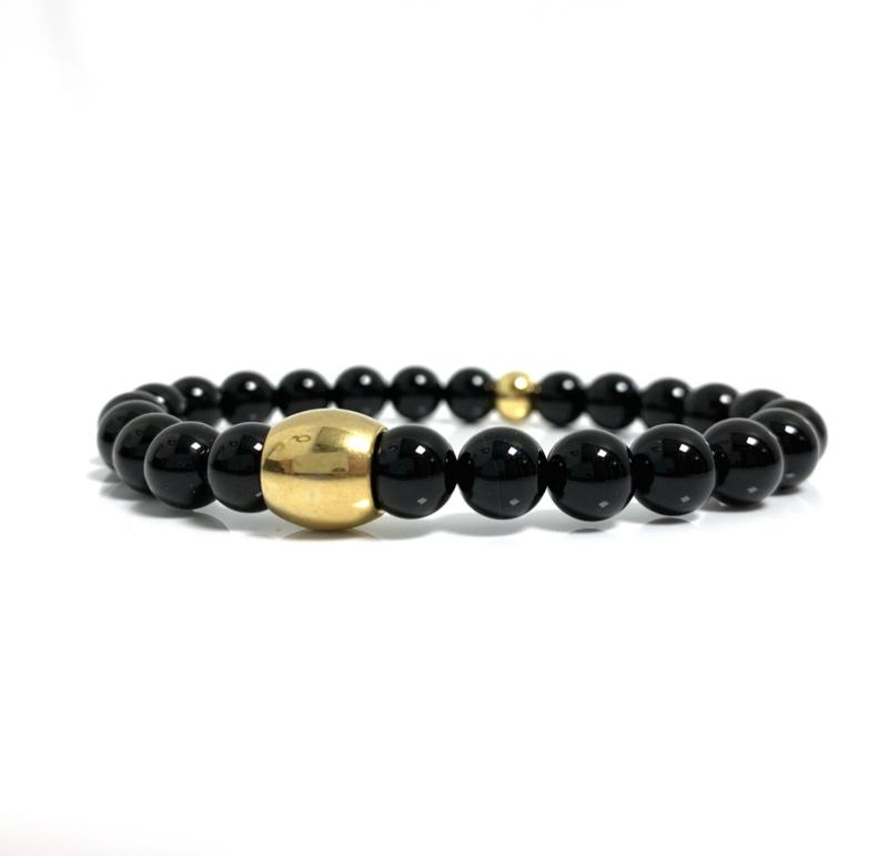Glans onyx gouden armband (3 varianten)