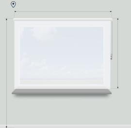 Rolgordijnen - transparante stof