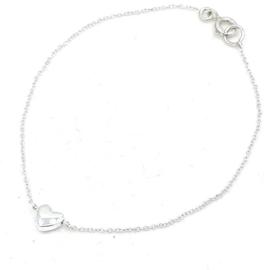 Zilveren anker schakel armband met hematiet hartje.