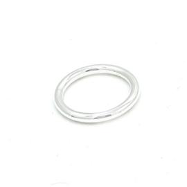 Zilveren hamerslag ring.