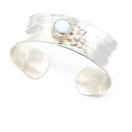 Zilveren armband met amazoniet.