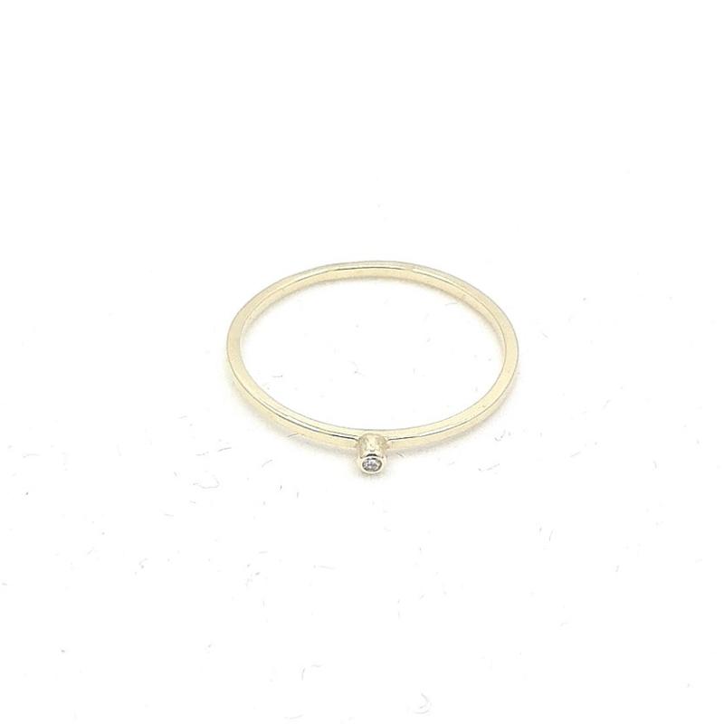 Geelgouden ring diamant.