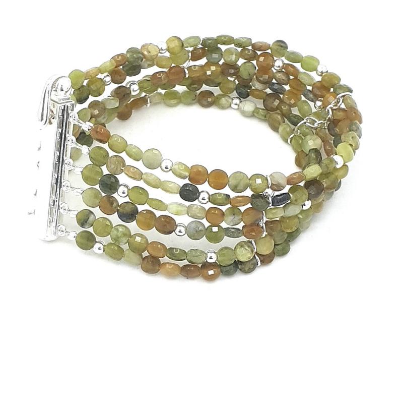 Zilveren armband met afrikaanse jade.