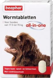 Beaphar ontwormingstabletten 17,5-70 kg 2 stuks