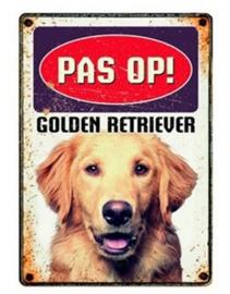 Waakbord golden retriever