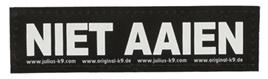 Julius K9 label Niet Aaien voor L/XL/XXL tuig