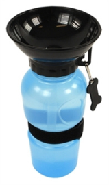 Aquadog multi drinkfles blauw/zwart