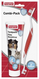 beaphar tandenborstel en tandpasta combi