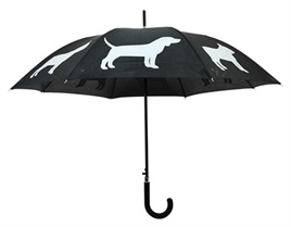 Paraplu hond zwart/wit