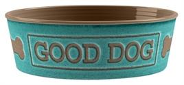 Tarhong voerbak good dog turquoise 17cm