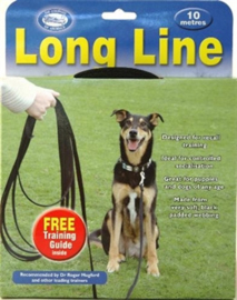 Coa lange looplijn zwart 10 meter
