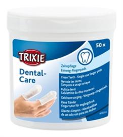 Trixie dental vingerpad 50 stuks