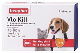 Beaphar vlo kill tabletten tot 11 kilo 6 stuks (tijdelijk niet op voorraad)