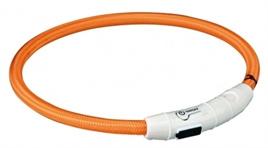 Trixie lichtgevende halsband USB oranje