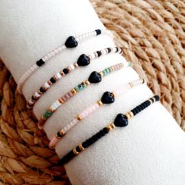 Miyuki-kralen armband met hartje